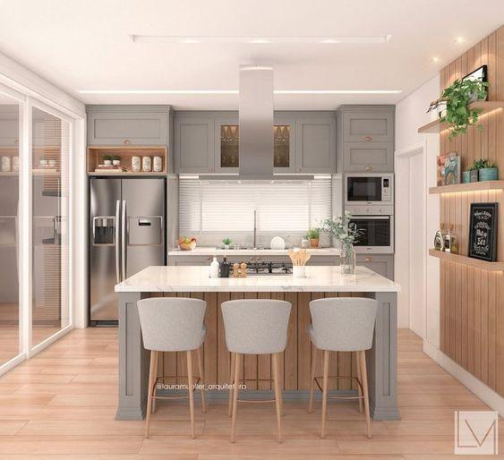 Cozinha com ilha: funcionalidade que virou tendência